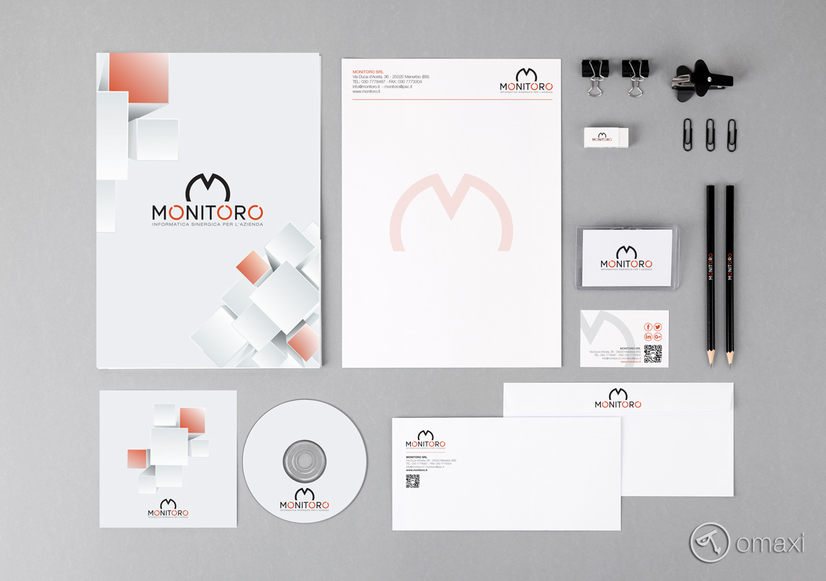 Monitoro brand identity mock up