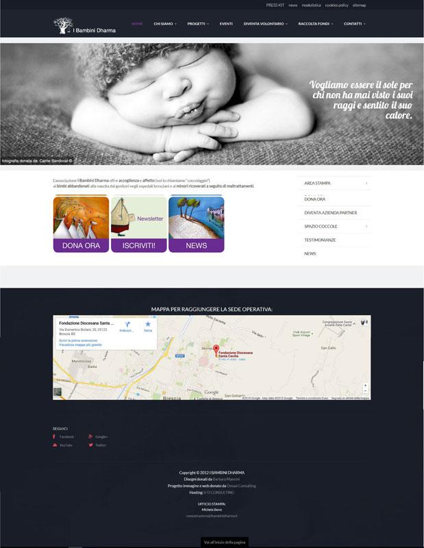 Home page sito web Associazione Dharma Onlus
